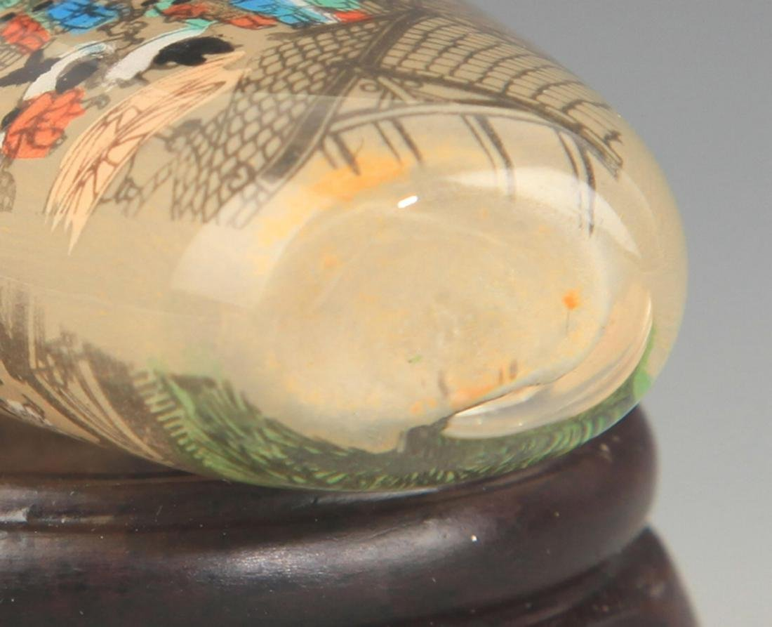 A STORY PAINTED GLASS SNUFF BOTTLE - 3