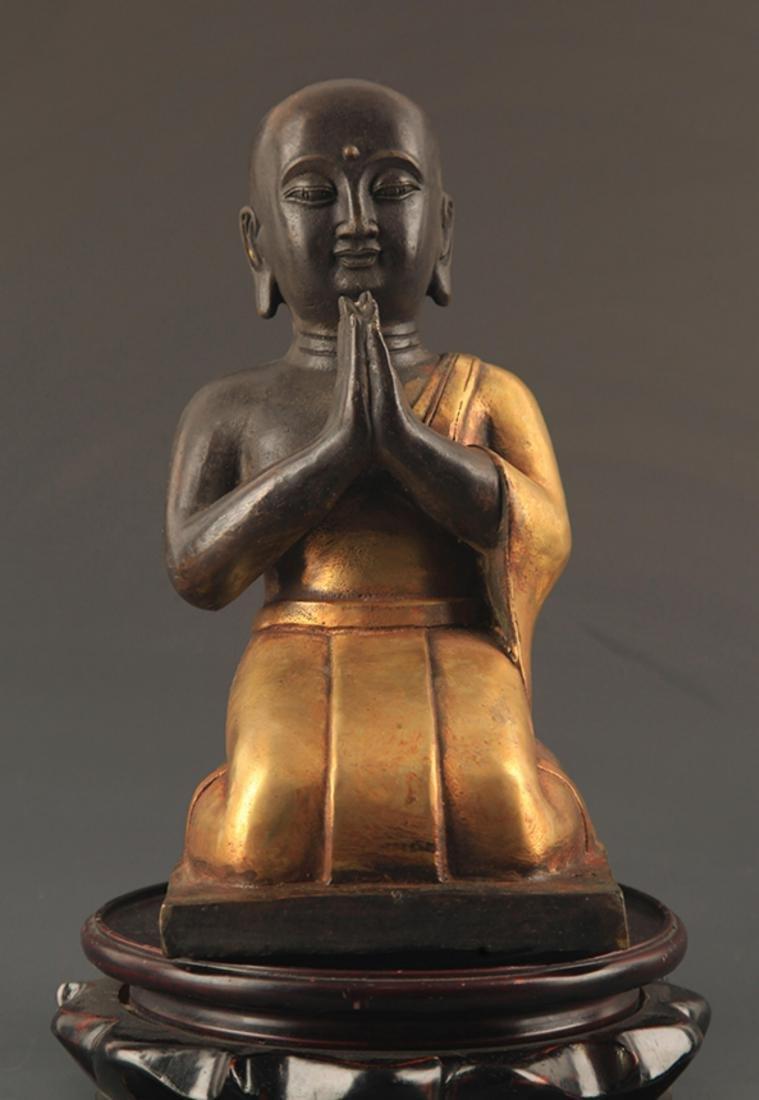 A FINE BRONZE AMITAYUS BUDDHA STATUE