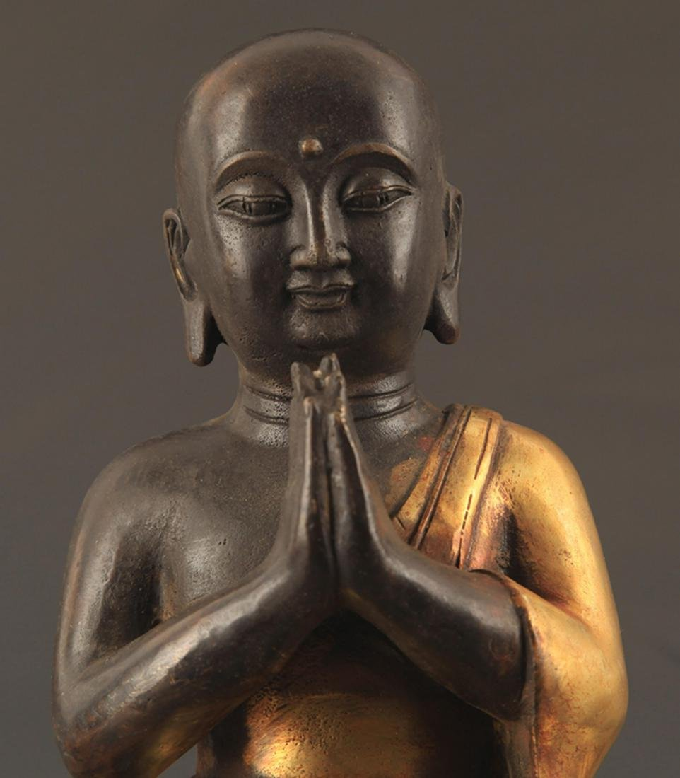 A FINE BRONZE AMITAYUS BUDDHA STATUE - 2