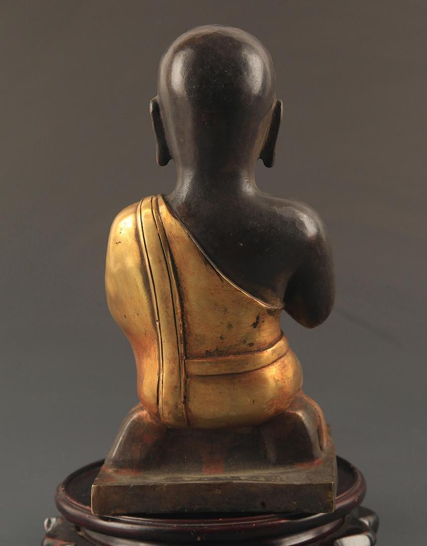 A FINE BRONZE AMITAYUS BUDDHA STATUE - 4