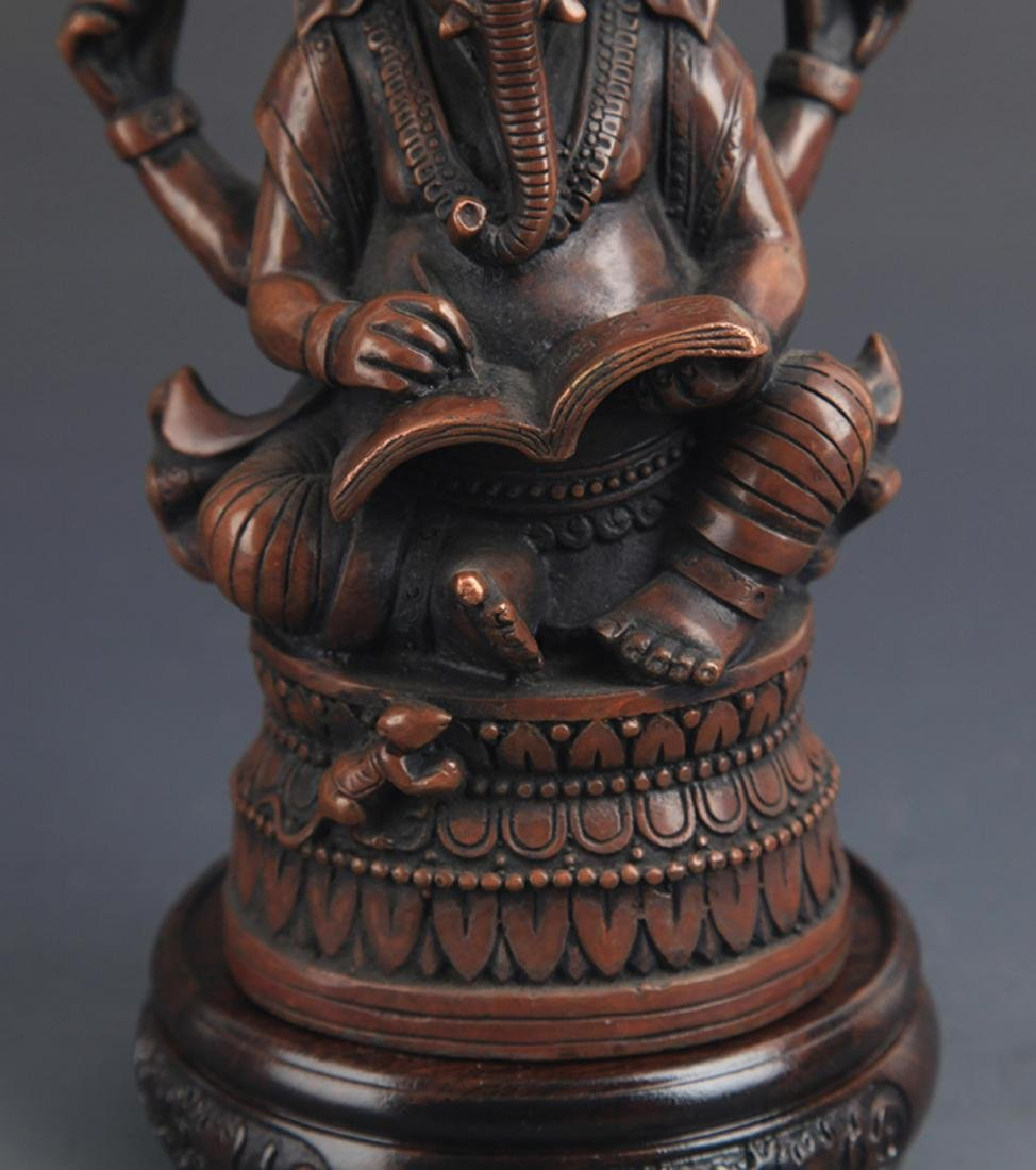 FINE TIBETAN BUDDHISM GANESHA STATUE - 3
