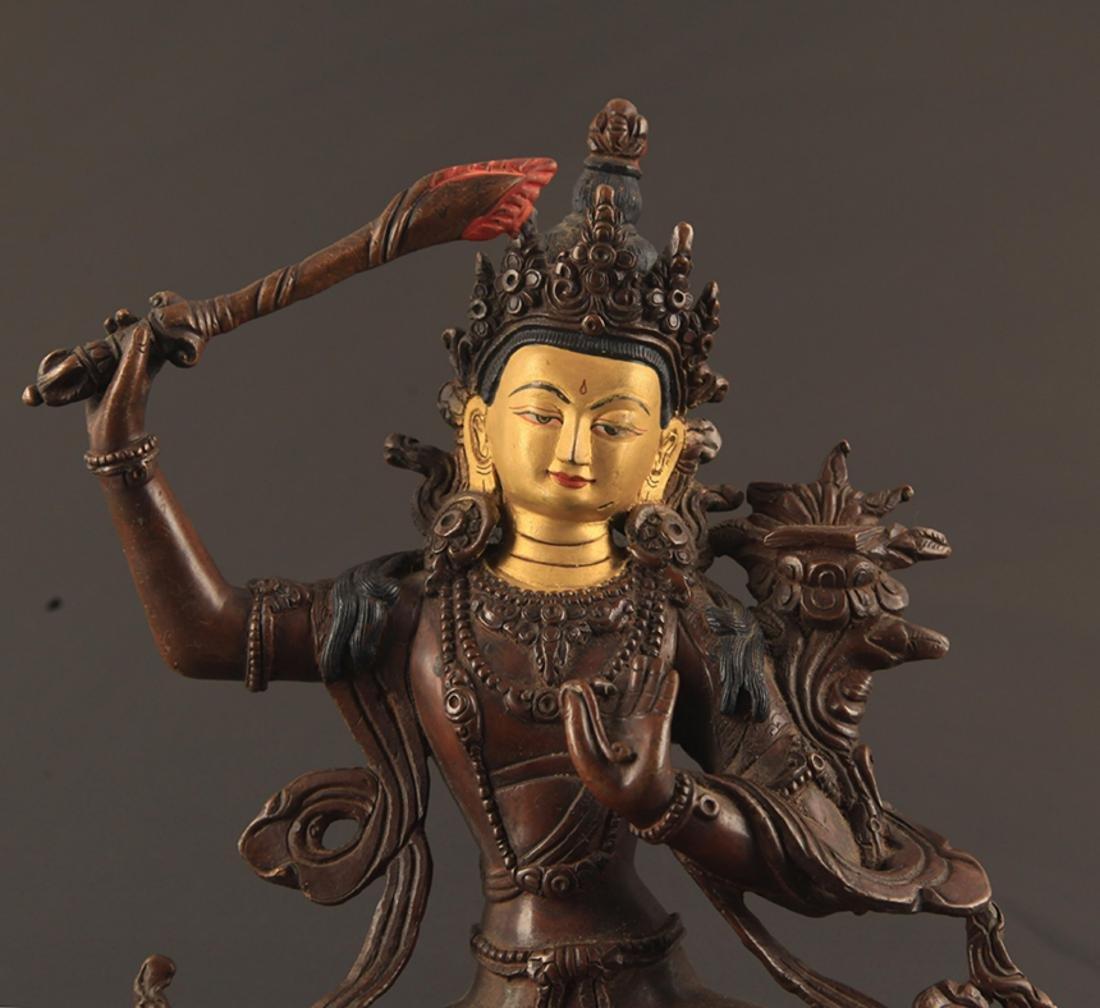 A FINE BRONZE MANJUSRI BUDDHA FIGURE - 2
