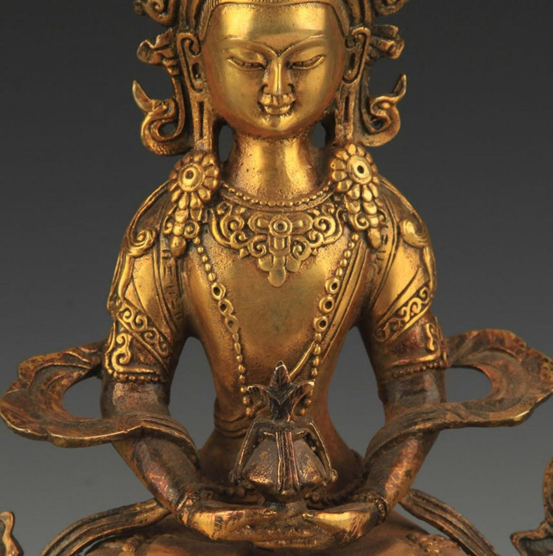A FINELY CARVED TIBETAN BUDDHA - 2