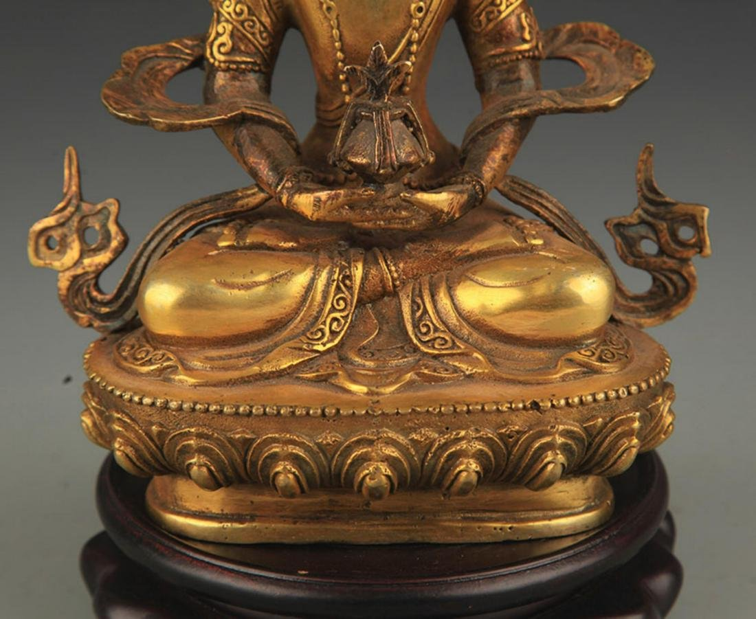 A FINELY CARVED TIBETAN BUDDHA - 4