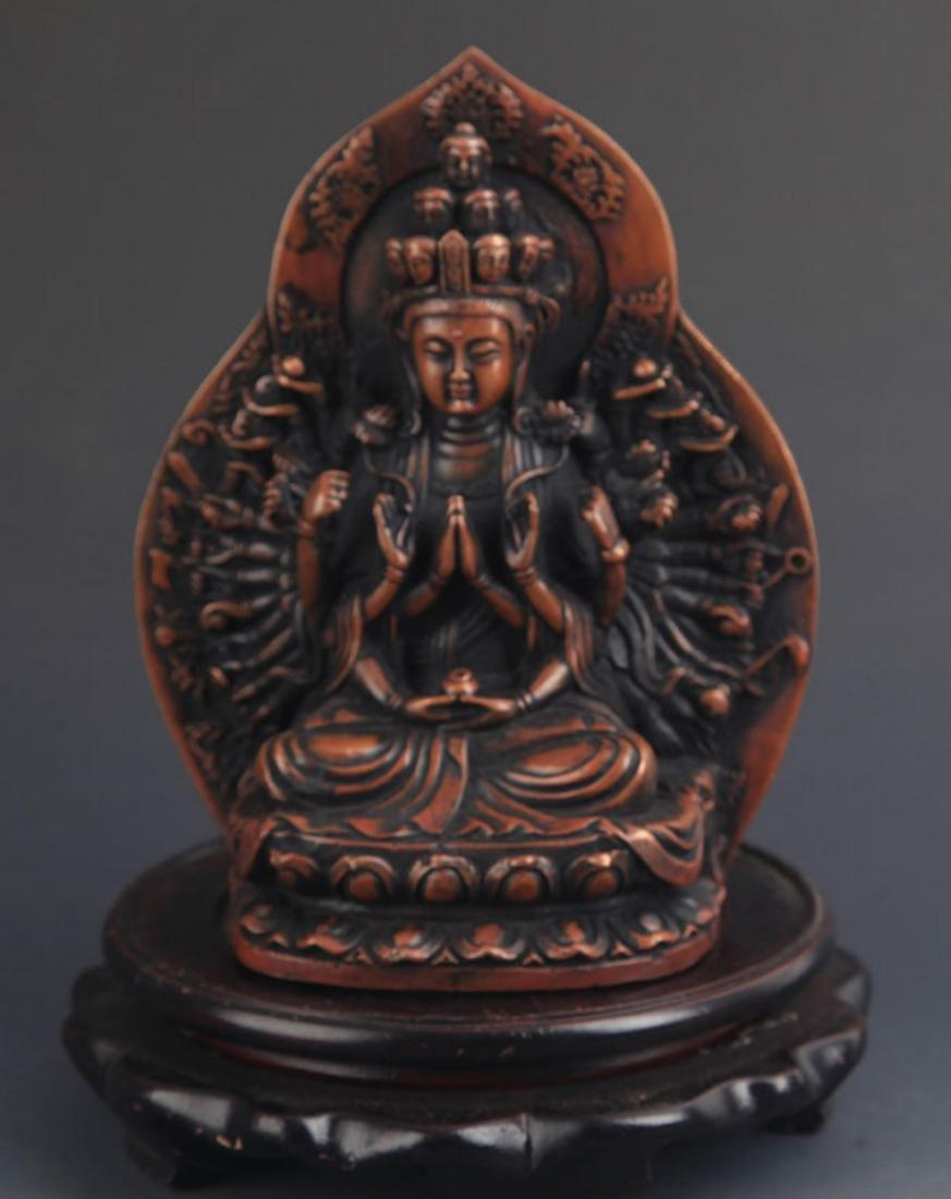 A FINE TIBETAN BUDDHISM THOUSHAND HAND GUAN YIN