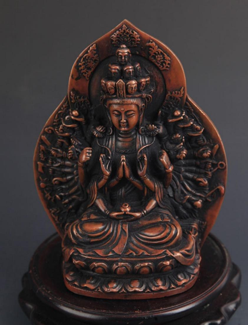 A FINE TIBETAN BUDDHISM THOUSHAND HAND GUAN YIN - 2