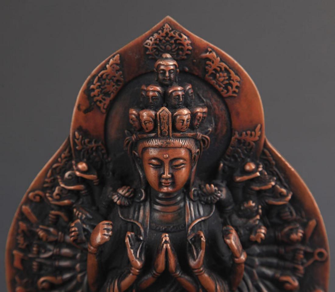 A FINE TIBETAN BUDDHISM THOUSHAND HAND GUAN YIN - 3