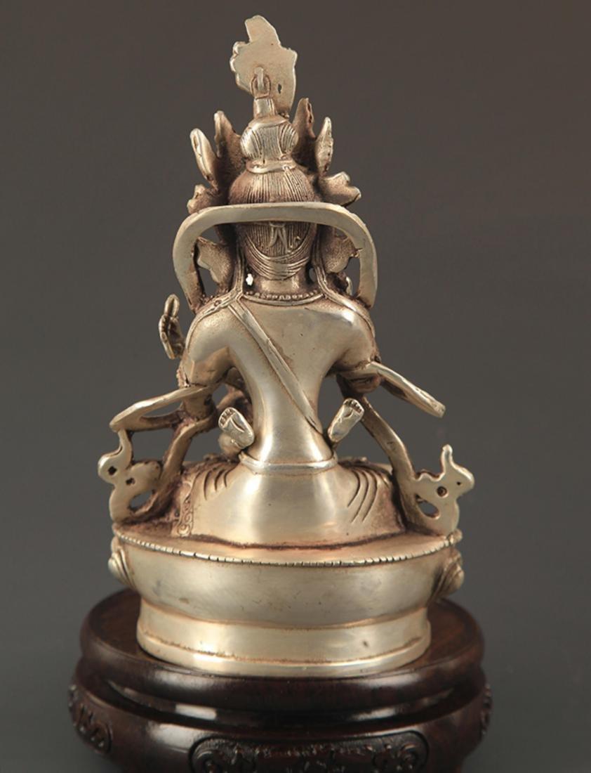 A TIBETAN BUDDHISM BRONZE MANDKESVARA FIGURE - 4