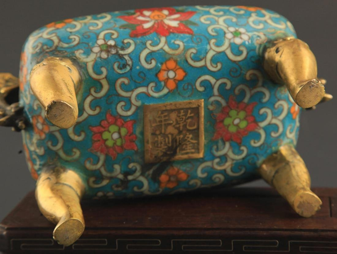 A CLOISONNE DRAGON CARVING AROMATHERAPY - 6