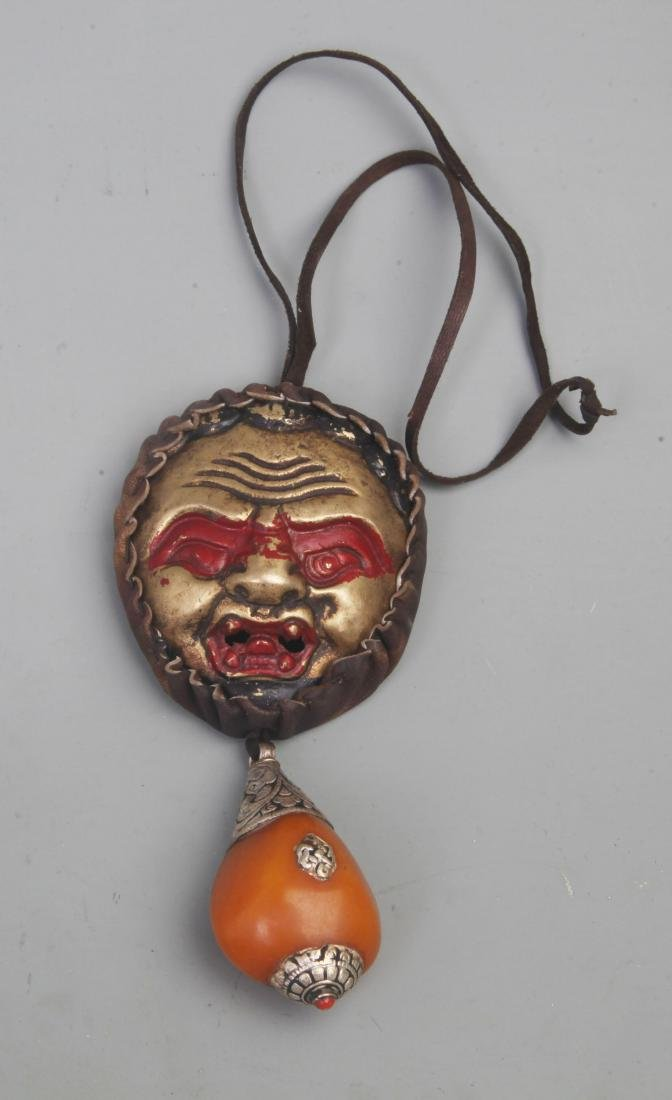 A FINE TIBETAN BUDDHISM RELIGIOUS INSTRUMENT