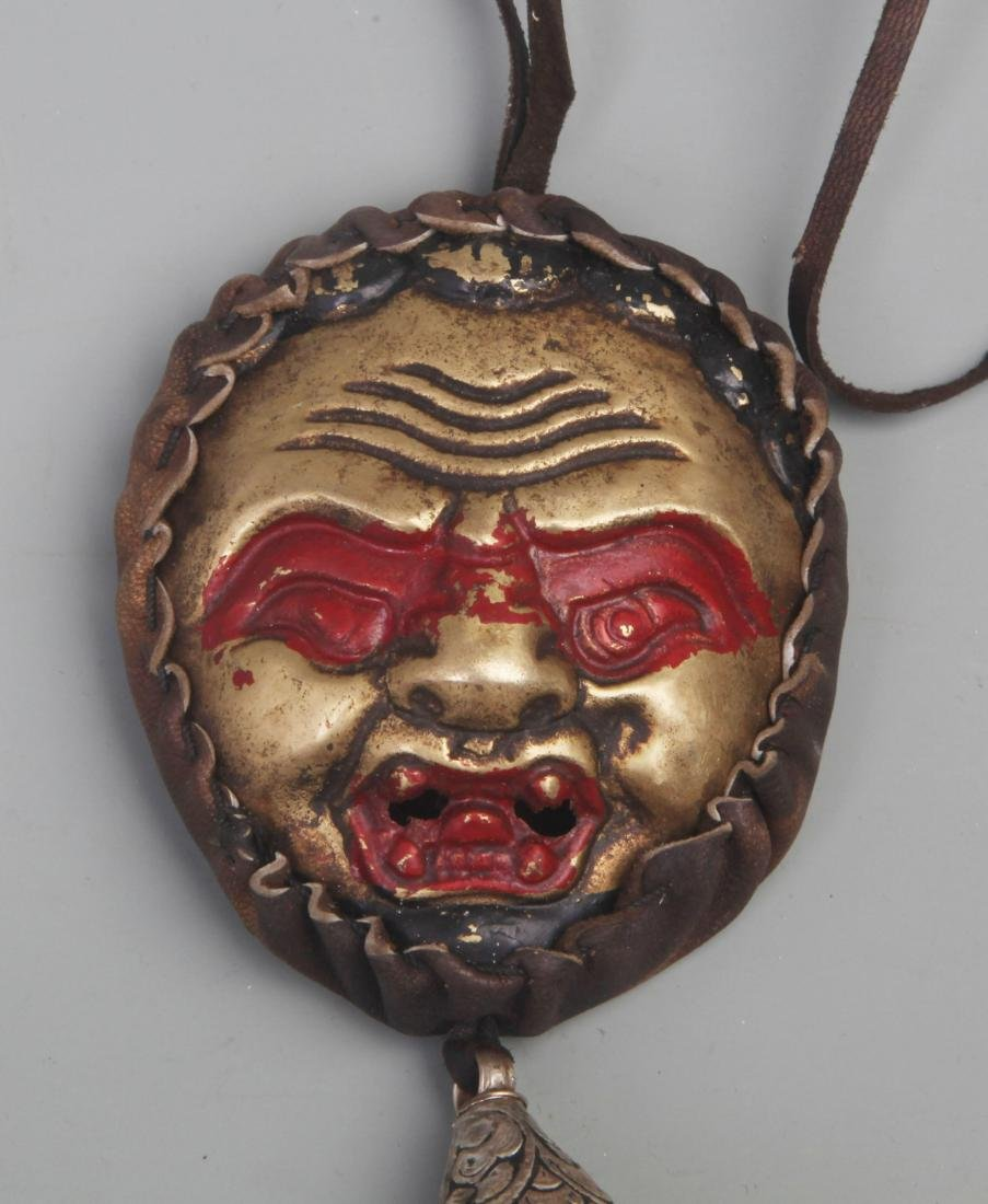 A FINE TIBETAN BUDDHISM RELIGIOUS INSTRUMENT - 2