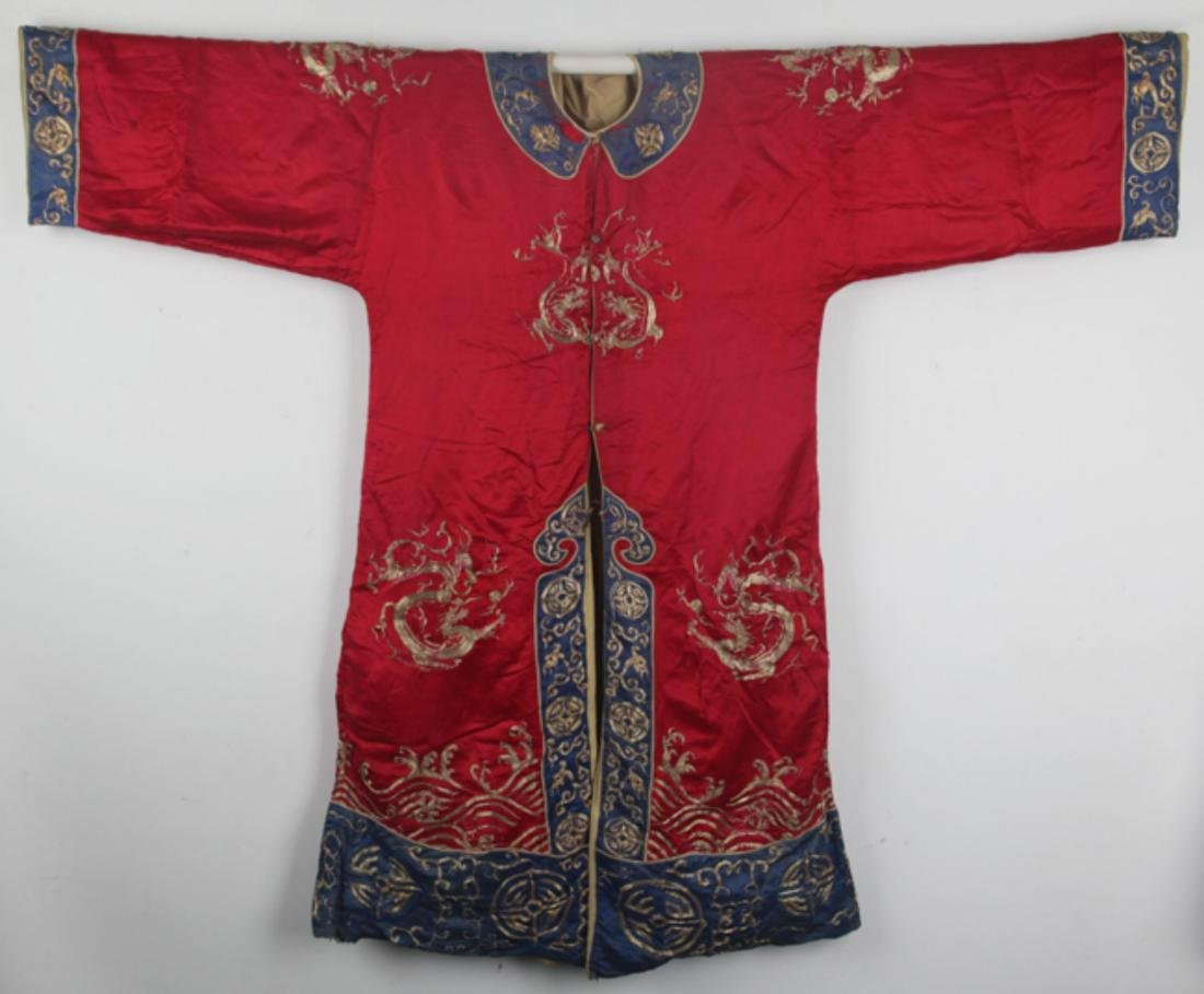 A COLORFUL EMBROIDERED COURT ROBE