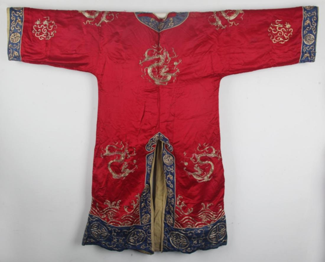 A COLORFUL EMBROIDERED COURT ROBE - 6