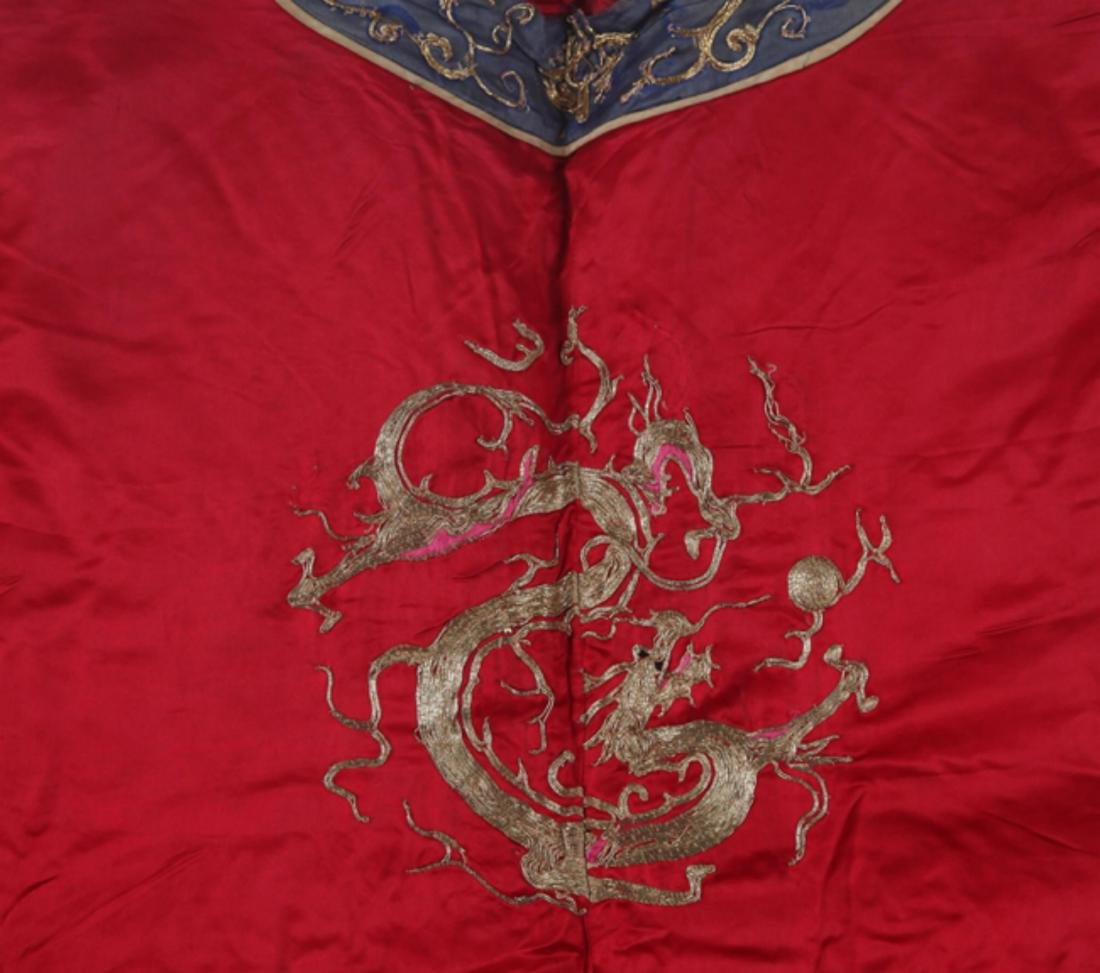 A COLORFUL EMBROIDERED COURT ROBE - 7