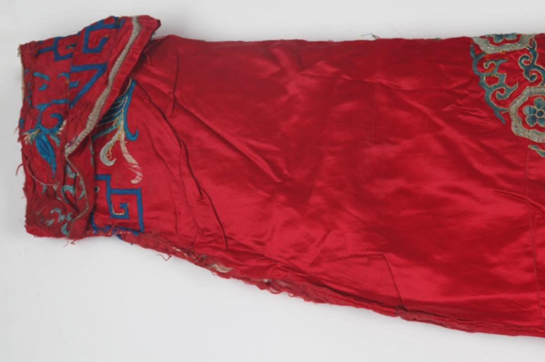 A FINE RED COLOR EMBROIDERED ROBE - 8