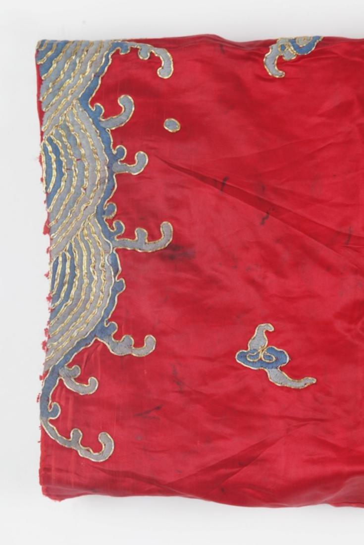 A FINE RED COLOR DRAGON EMBROIDERED ROBE - 4