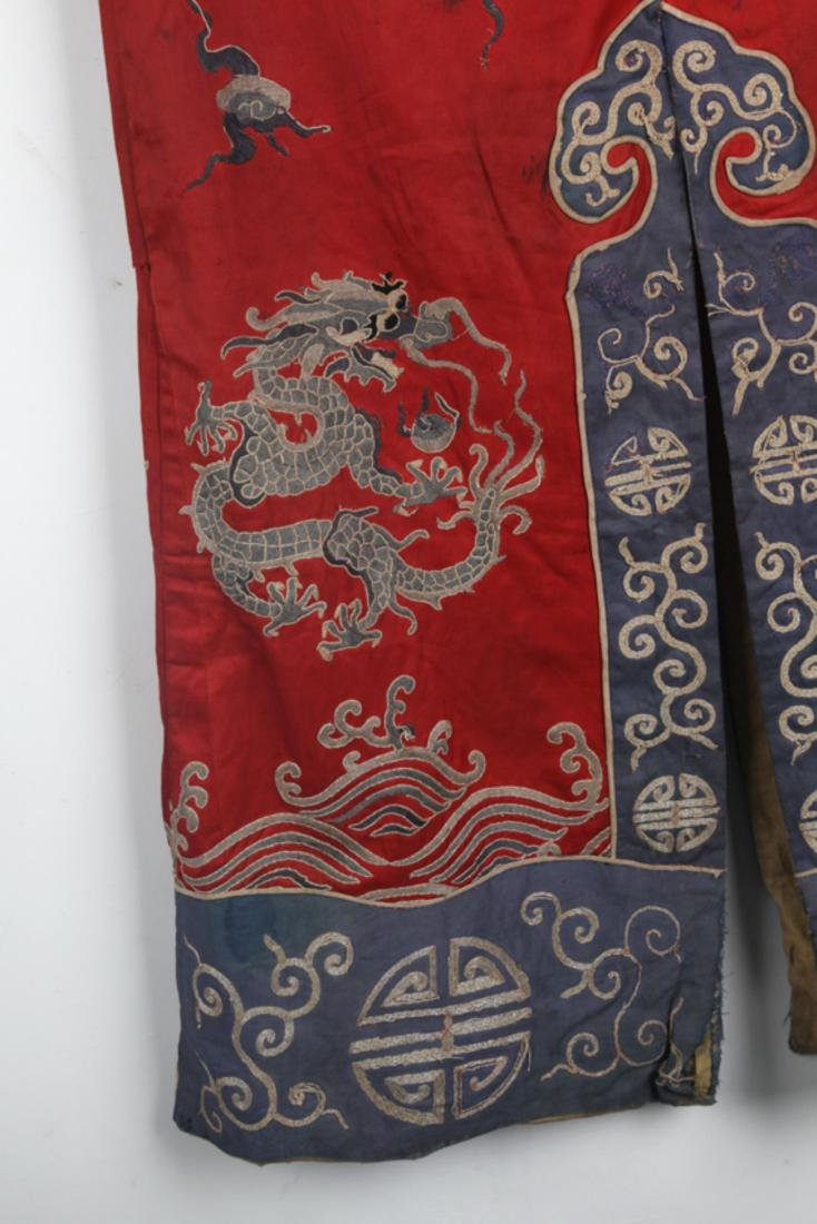 A COLORFUL EMBROIDERED COURT ROBE - 9