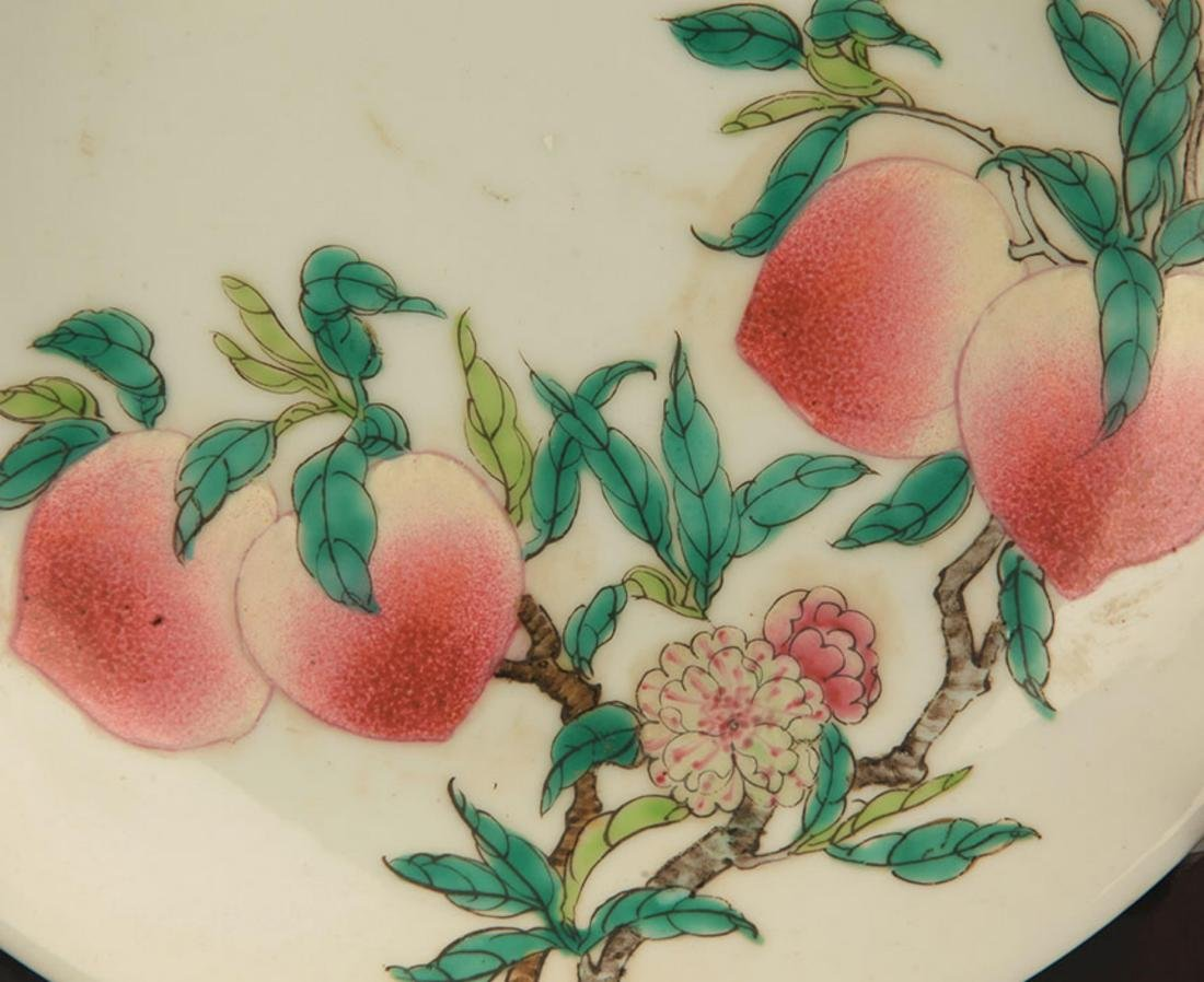 PAIR OF FAMILLE-ROSE PEACH PLATE - 2