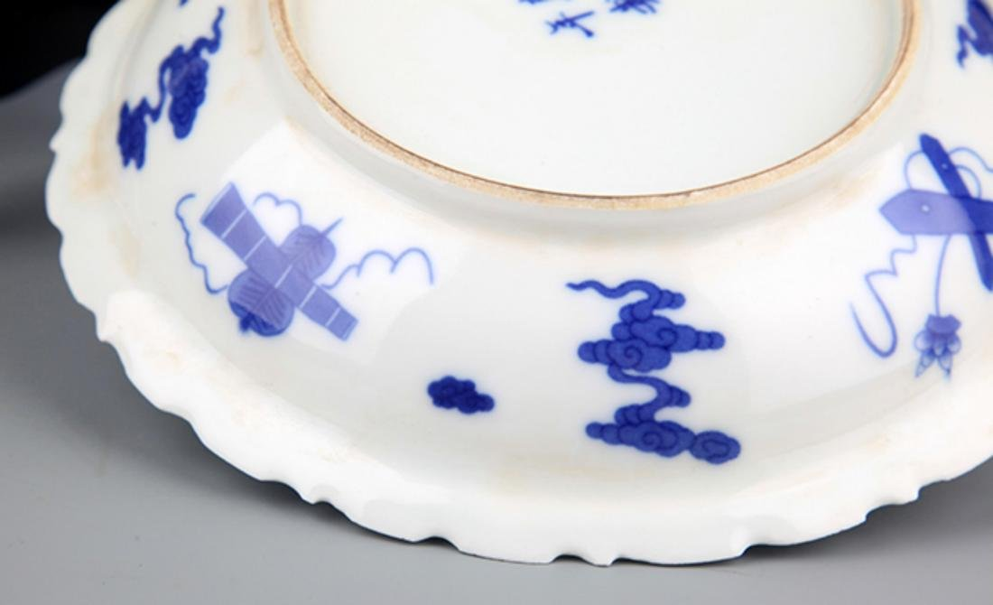 TWO FINELY PAINTED BLUE AND WHITE PORCELAIN PLATE - 6