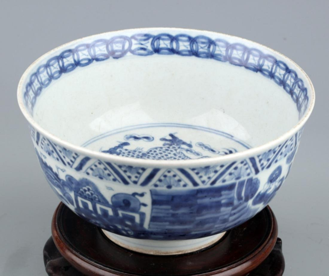A BLUE AND WHITE PORCELAIN BOWL - 2