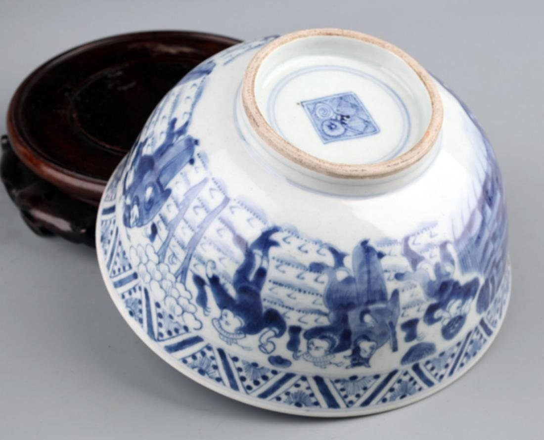 A BLUE AND WHITE PORCELAIN BOWL - 4