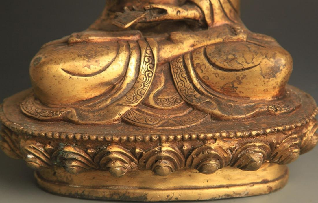 A FINELY CARVED TIBETAN BUDDHA - 3