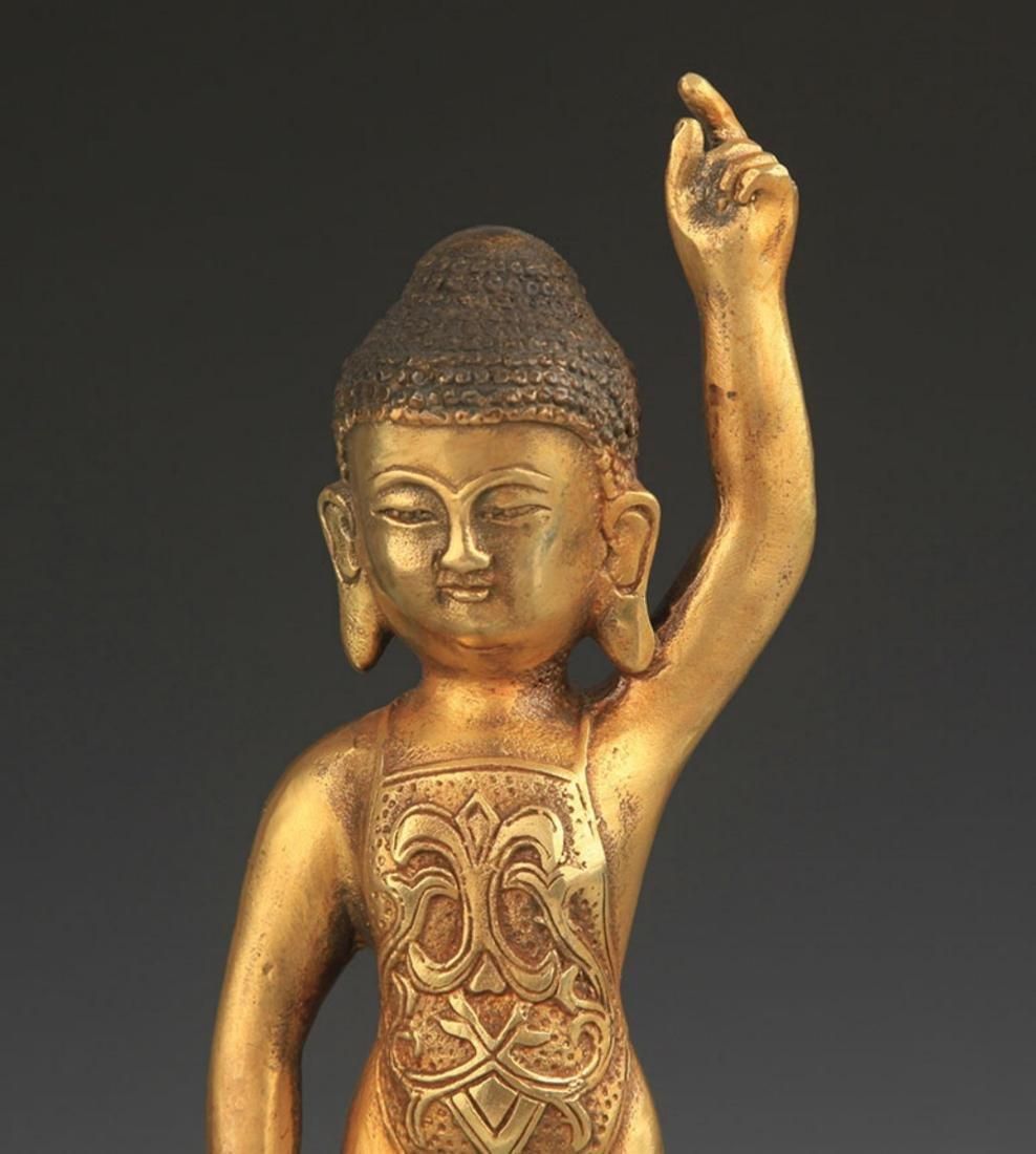 A TIBETAN BUDDHISM BRONZE STATUE - 2