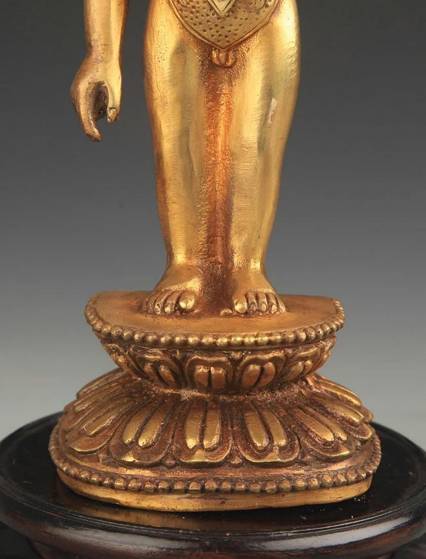 A TIBETAN BUDDHISM BRONZE STATUE - 3