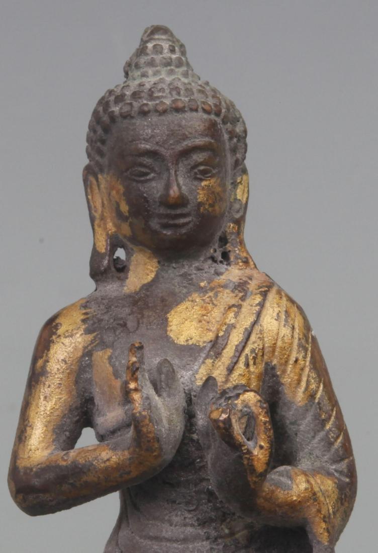 A FINE GILT BRONZE BAO MOONLIGHT BUDDHA - 2