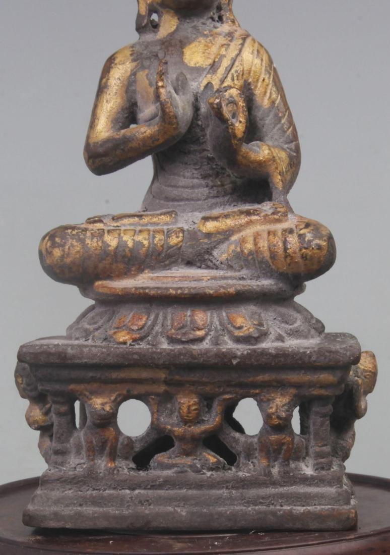 A FINE GILT BRONZE BAO MOONLIGHT BUDDHA - 3
