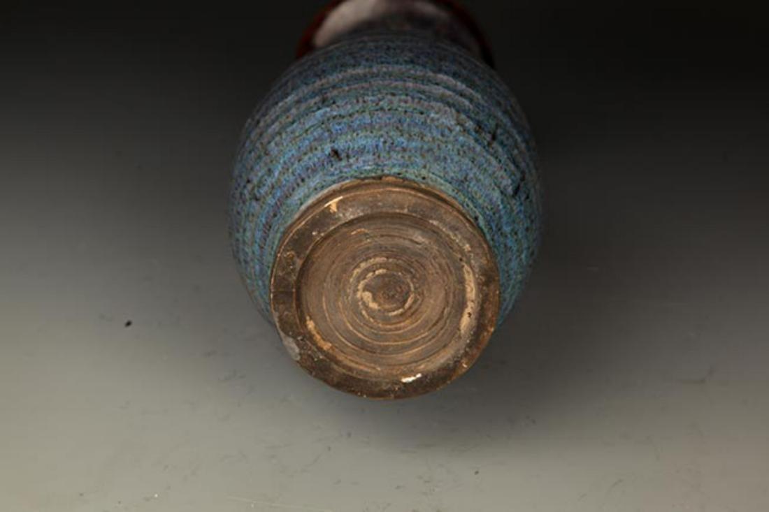 A BLUE COLOR KILN PORCELAIN BOTTLE - 6