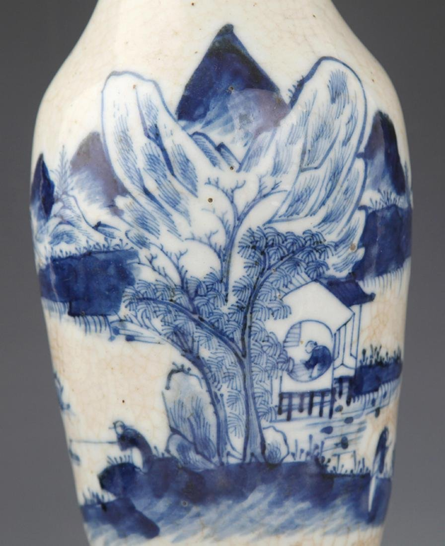 A FINE GE-TYPE GLAZED BLUE AND WHITE PORCELAIN JAR - 3