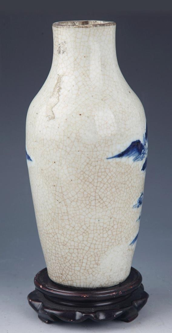 A FINE GE-TYPE GLAZED BLUE AND WHITE PORCELAIN JAR - 4