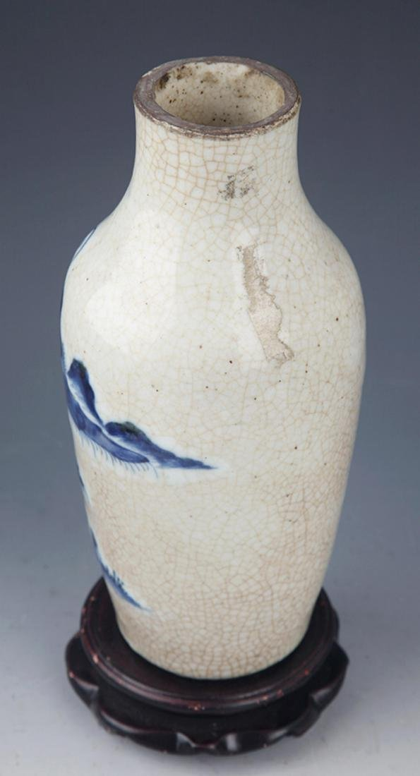 A FINE GE-TYPE GLAZED BLUE AND WHITE PORCELAIN JAR - 5