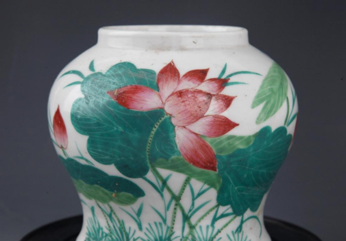 A GROUP OF THREE FINELY PAINTED PORCELAIN JAR - 4
