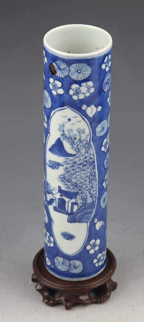 PAIR OF FINELY PAINTED BLUE AND WHITE FLOWER JAR - 4