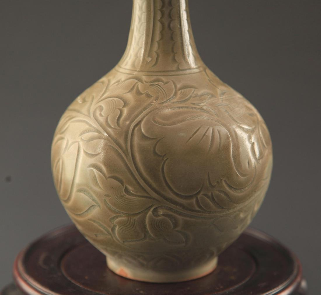 "A ""YAO ZHOU YAO"" FISH CARVING LONG NECK JAR - 3"
