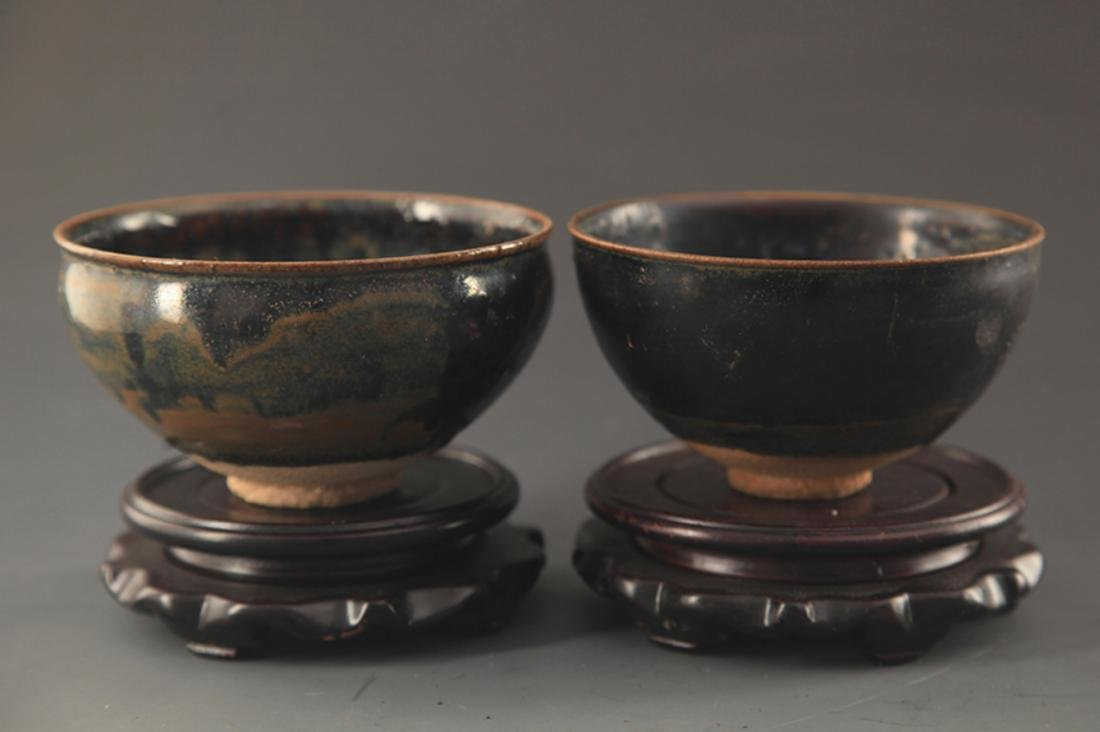 "PAIR OF ""JIAN YAO"" TEA CUP"