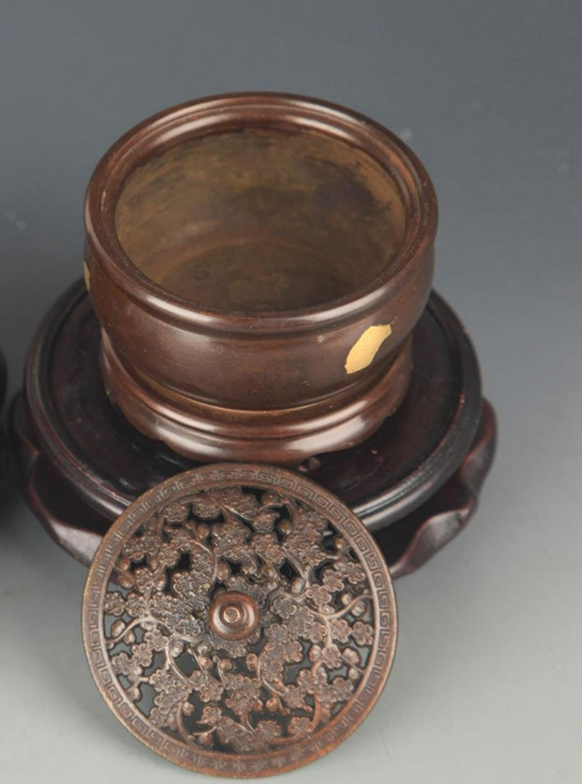 A SPIKLE GOLD ROUND BRONZE AROMATHERAPY - 3