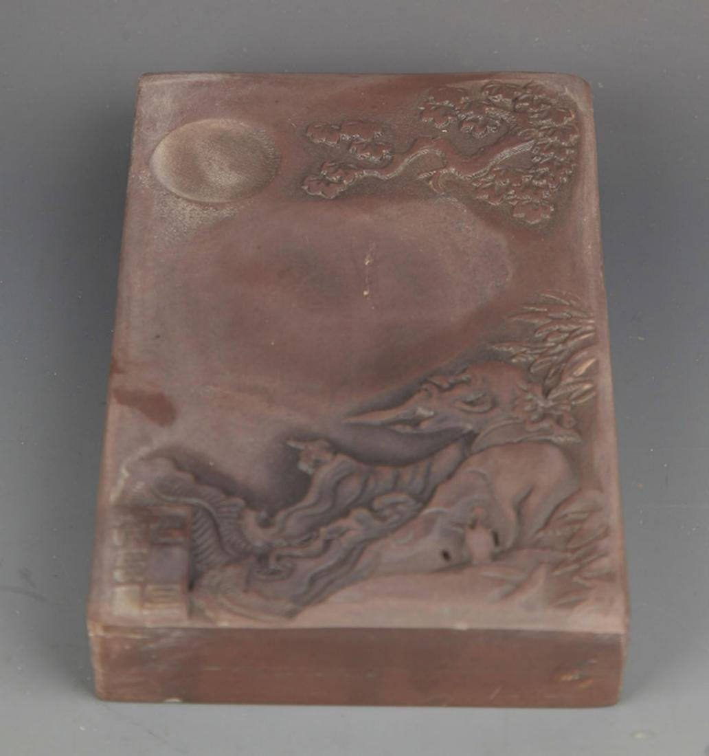 A STORY CARVING INK STONE - 2