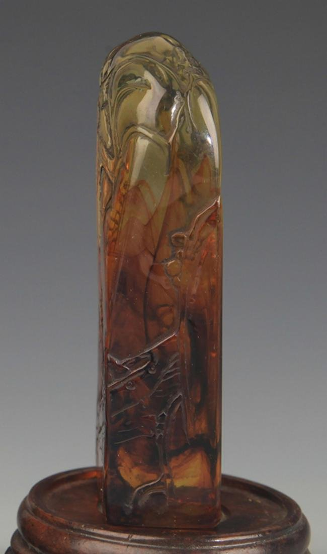 PAIR OF OPTIMIZED AMBER LANDSCAPING SEAL - 3