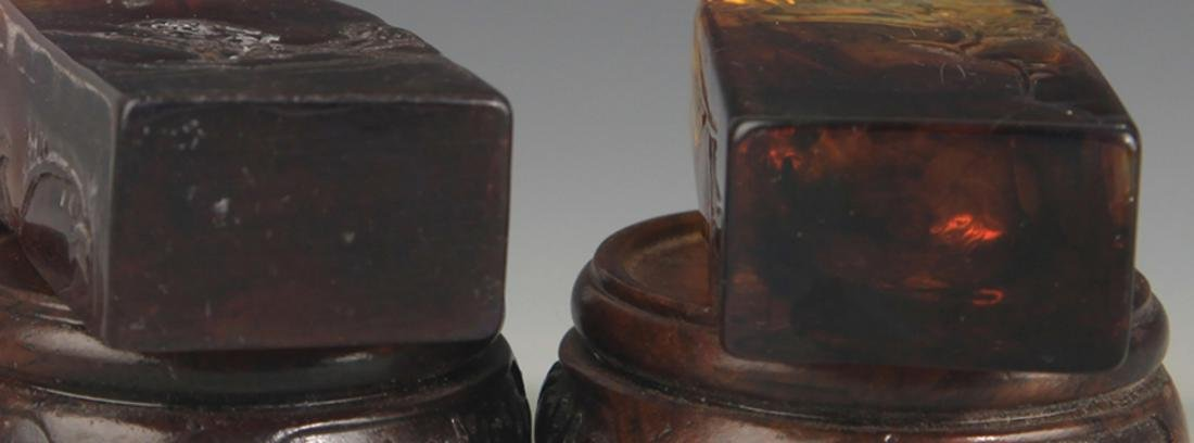 PAIR OF OPTIMIZED AMBER LANDSCAPING SEAL - 5