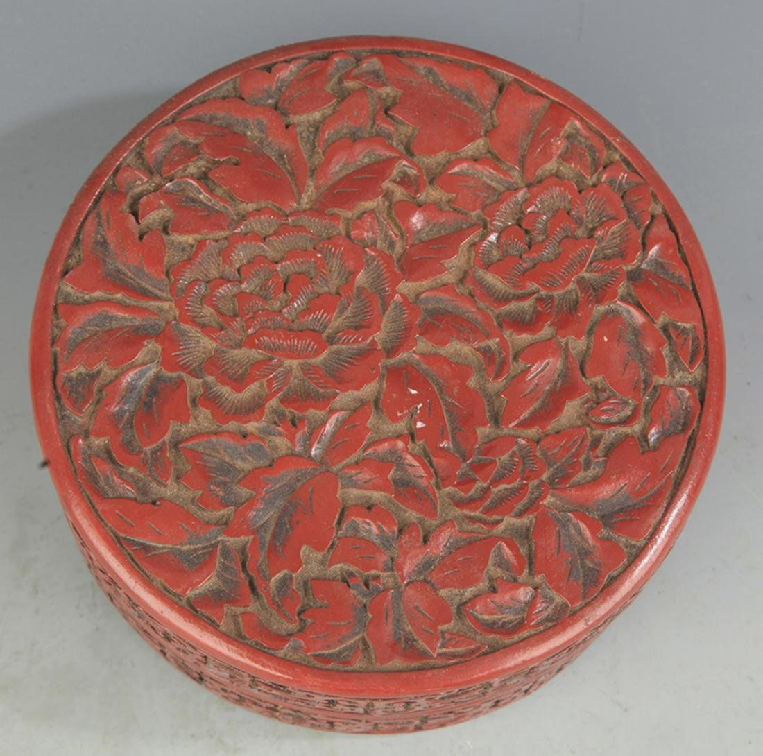 A FINE CHINESE LACQUER BOX WITH COVER - 2