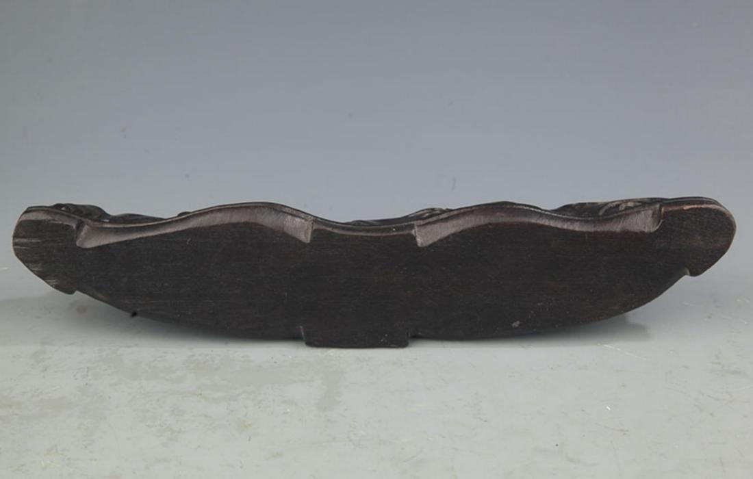 A SANDALWOOD MOUNTAIN FIGURE BRUSH RACK - 4