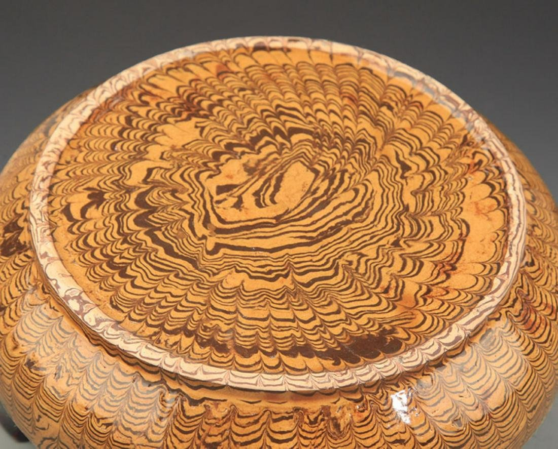 A YELLOW GLAZE INCENSE BOX - 4