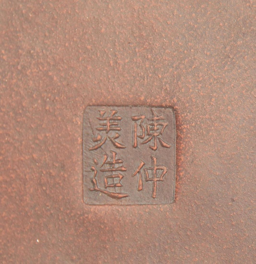 """A FINE """"CHEN ZHONG MEI"""" MARK ZISHA TEAPOT - 4"""