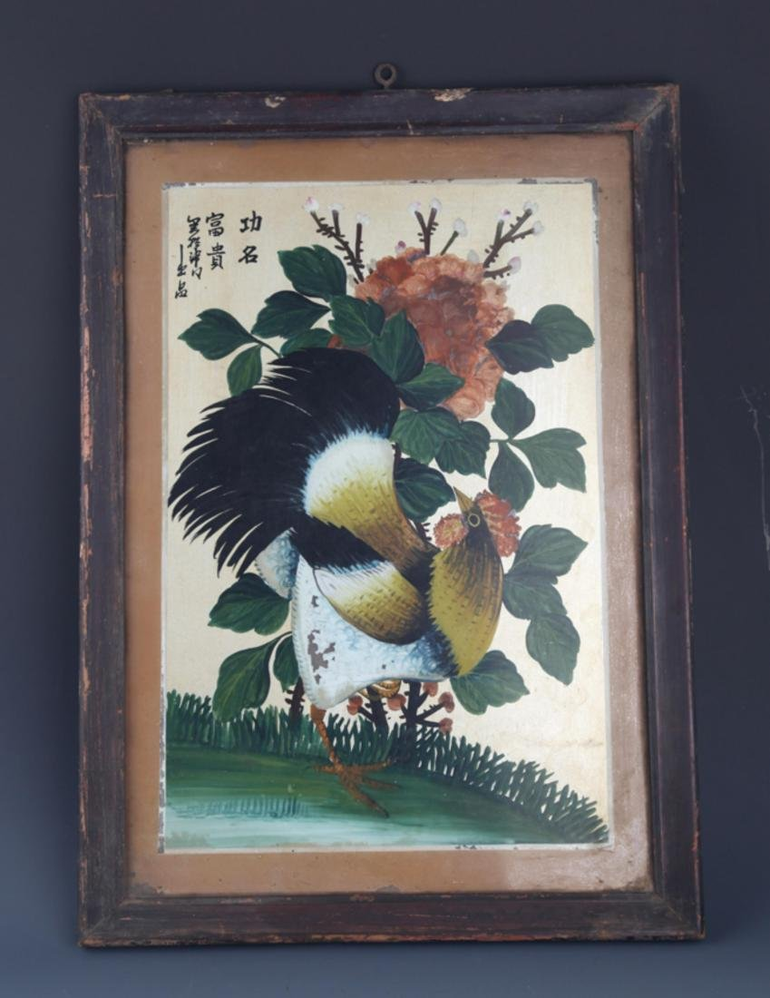 A OLD CHINESE PAINTING WITH FRAME