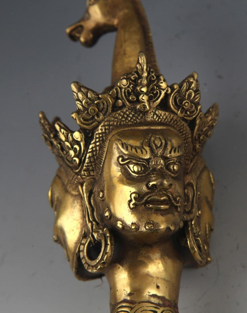 A BRONZE TIBETAN RELIGIOUS OBJECTS - 4
