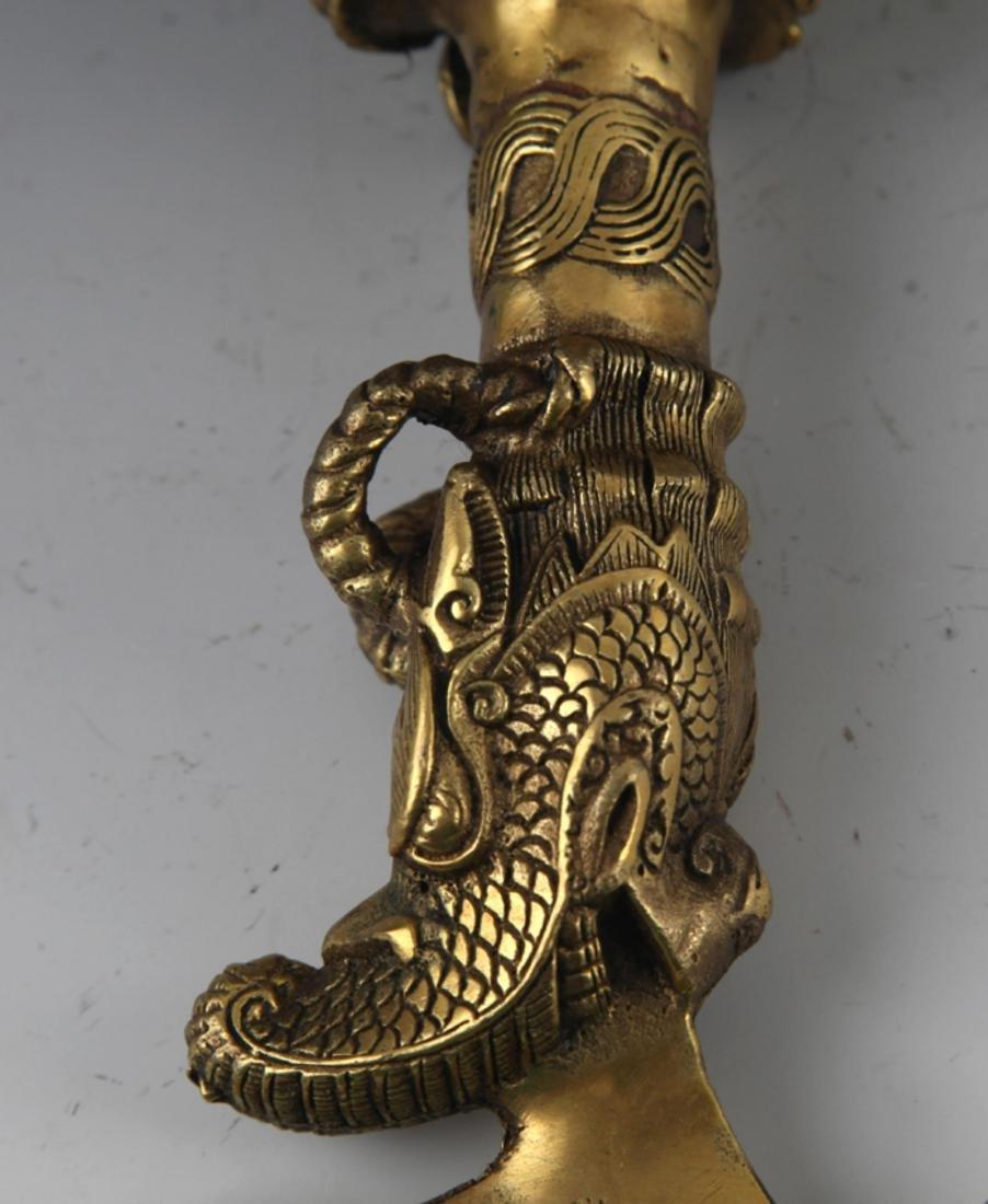 A BRONZE TIBETAN RELIGIOUS OBJECTS - 5
