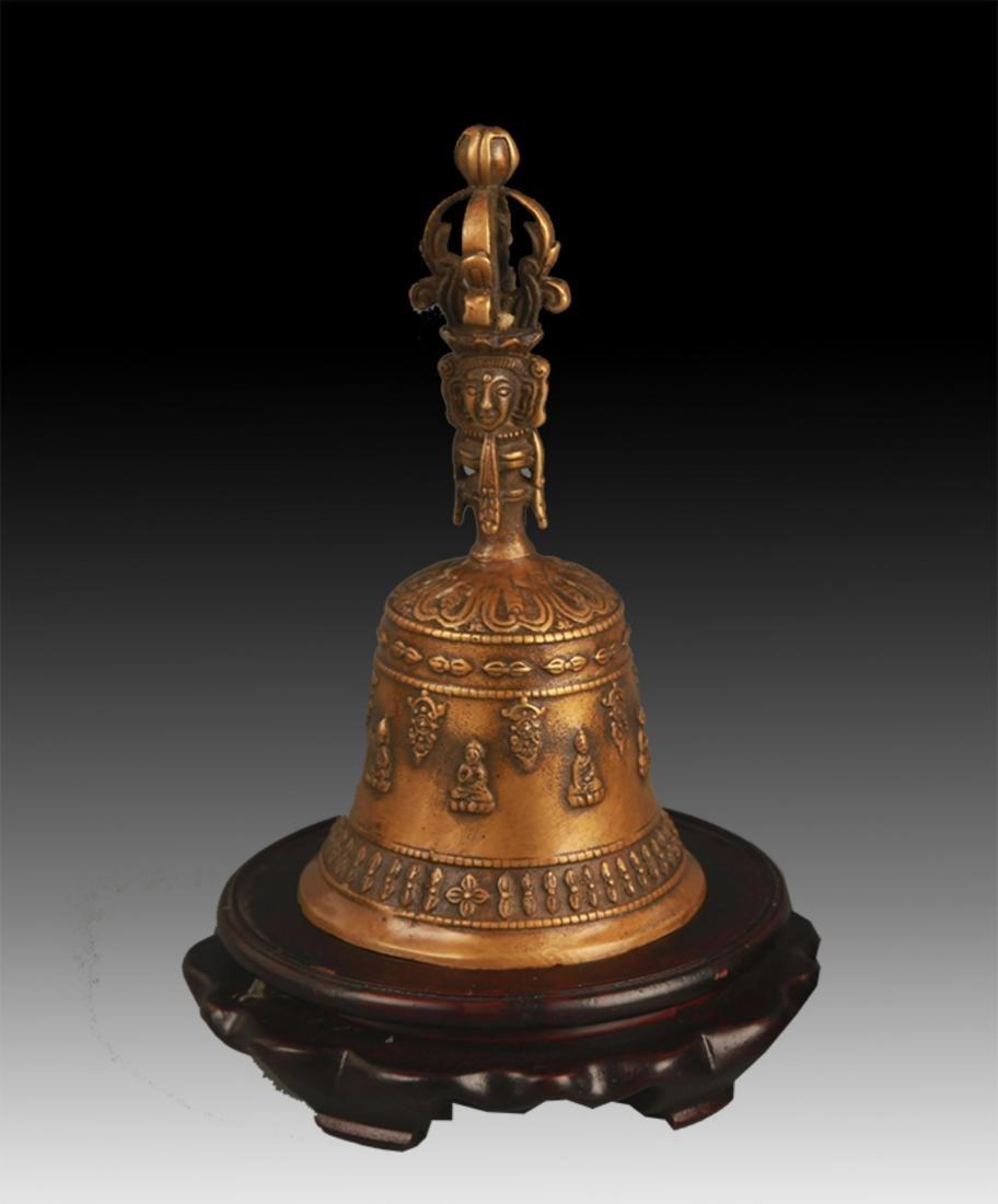 TIBETAN BUDDHISM BRONZE BELL